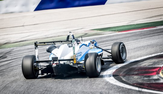 DTM-Pilot Lucas Auer noch in der Formel3 in Spielberg...