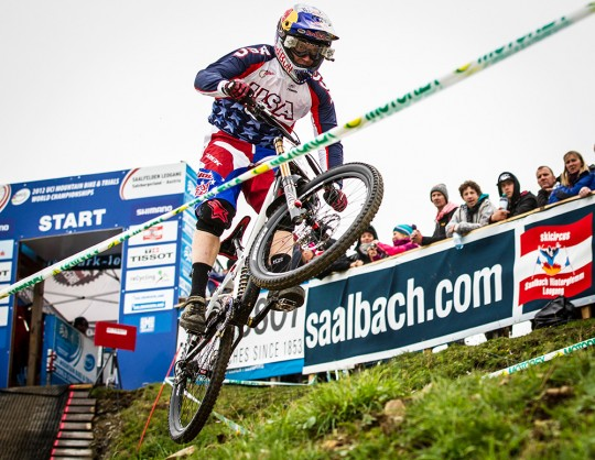 Aaron Gwin beim UCI Weltcup in Leogang