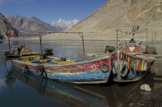 Attabad Lake nähe der chinesischen Grenze in Pakistan