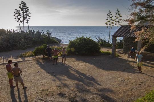 Boule Spieler auf Korsika
