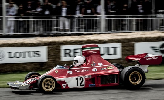 Niki Lauda`s Bolide beim Goodwood Festival of Speed in England.